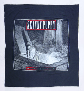 Skinny Puppy Dig It Grey Test Backpatch
