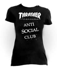 Thrasher Anti Social Club Girls T-Shirt