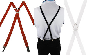 "1"" Slim Suspenders with Clips"