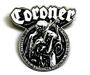 "Coroner Punishment 1.5"" Metal Badge Pin"
