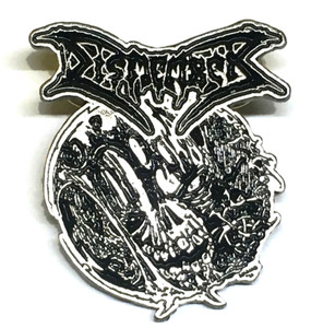 "Dismember Zombie Skull 1.5"" Metal Badge Pin"