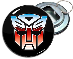 "Transformers 2.25"" Metal Bottle Opener Keychain"