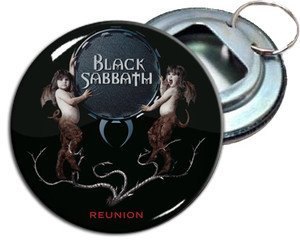 "Black Sabbath Reunion 2.25"" Metal Bottle Opener Keychain"