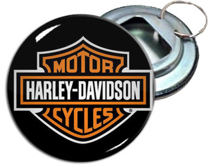 "Harley Davidson Motorcycles 2.25"" Metal Bottle Opener Keychain"
