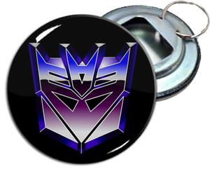 "Decepticons 2.25"" Metal Bottle Opener Keychain"