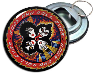"Kiss Rock And Roll Over 2.25"" Metal Bottle Opener Keychain"