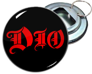 "Dio Logo 2.25"" Metal Bottle Opener Keychain"
