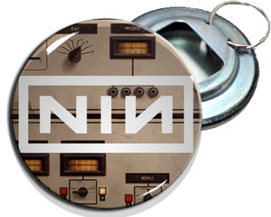 "Nine Inch Nails 2.25"" Metal Bottle Opener Keychain"