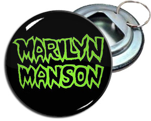 "Marilyn Manson 2.25"" Metal Bottle Opener Keychain"