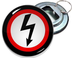 "Marilyn Manson Lightning 2.25"" Metal Bottle Opener Keychain"