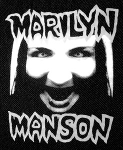 "Marilyn Manson 4x4.5"" Printed Patch"