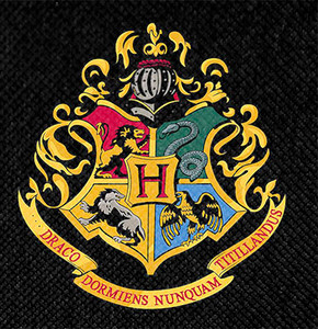 "Harry Potter's Hogwarts Crest 4x4"" Color Patch"