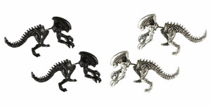 3D Alien Double Sided Earrings