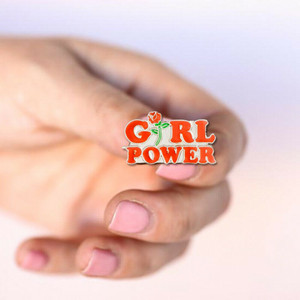 Girl Power Enamel Pin Badge