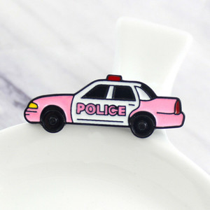 Pink Police Cruiser Enamel Pin Badge