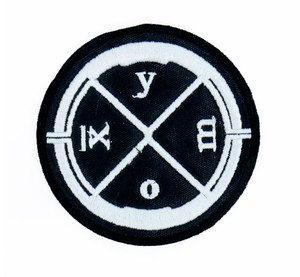 "Clan of Xymox Round 3x3"" Embroidered Patch"