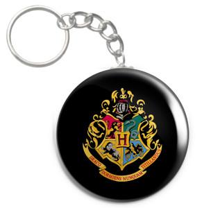 """Hogwarts Crest 1.5"""" Keychain"""