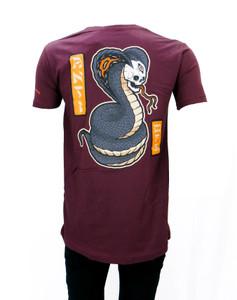 Antifashion - Skull Cobra Burgundy Shirt
