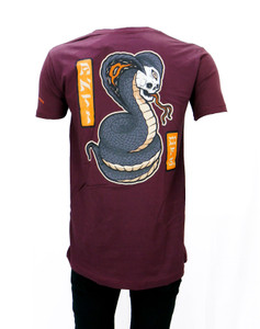 Skull Cobra Burgundy Shirt