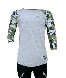 Grey and Camo Raglan Shirt
