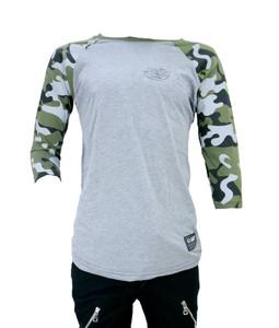 Grey and Camo Raglan Shirt
