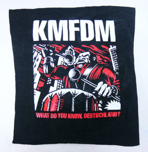 KMFDM What do you Know Deutschland? Test Backpatch