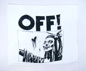 OFF! White Test Backpatch
