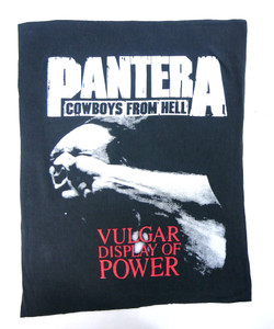 Pantera Cowboys From Hell Test Backpatch