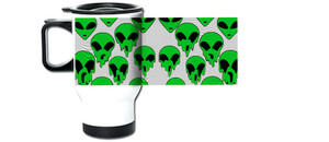 Melting Aliens Travel Mug