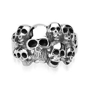 """10 Skull"" Ring 316L Surgical Stainless Steel"
