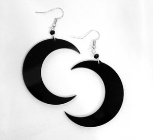 Crescent Moon Acrylic Earrings