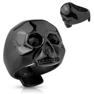Black Skull Stainless Steel Ring