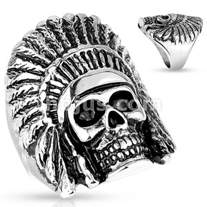 Tribal Skull Casting Stainless Steel Rings