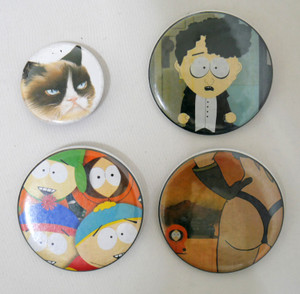 4 Piece Pin Lot - South Park and Grumpy Cat!