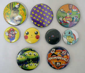 9 Piece Pin Lot - Animaniacs, Pokemon Shrek + More!