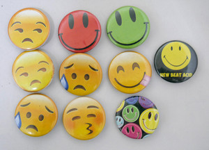 10 Piece Pin Lot - Faces!