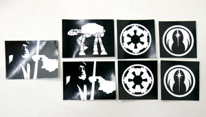 7 Piece Sticker Lot - Star Wars + More!