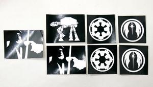 7 Piece Sticker Lot - Star Wars + More!