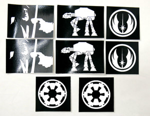 8 Piece Sticker Lot - Star Wars + More!
