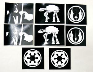 8 Piece Sticker Lot - Star Wars + More!