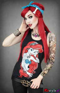 Rebel Mermaid Little  Mermaid Tank Top