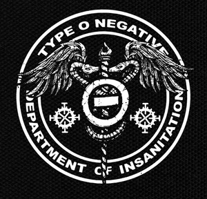 "Type O Negative - Department of Insanitation 4x4"" Printed Patch"