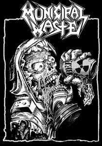"Municipal Waste - Beer 3.5x5"" Printed Patch"
