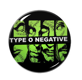 "Type O Negative - Faces 1.5"" Pin"