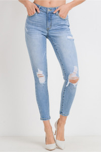 Vintage Destroyed Effect Ankle Skinny
