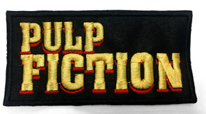 "Pulp Fiction - Logo 4 x 2"" Embroidered Patch"