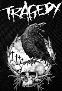 """Tragedy - Crow 13x19"""" Backpatch"""