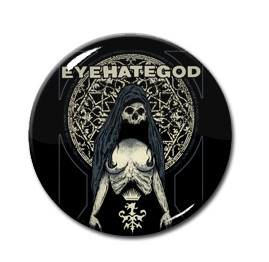 "EyeHateGod - Woman Skull 1"" Pin"