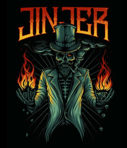 "Jinjer - Flame Skull 4x4"" Color Patch"