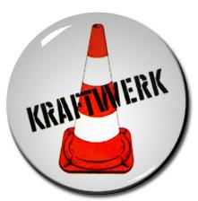"""Kraftwerk - Road cone 1"""" Pin"""